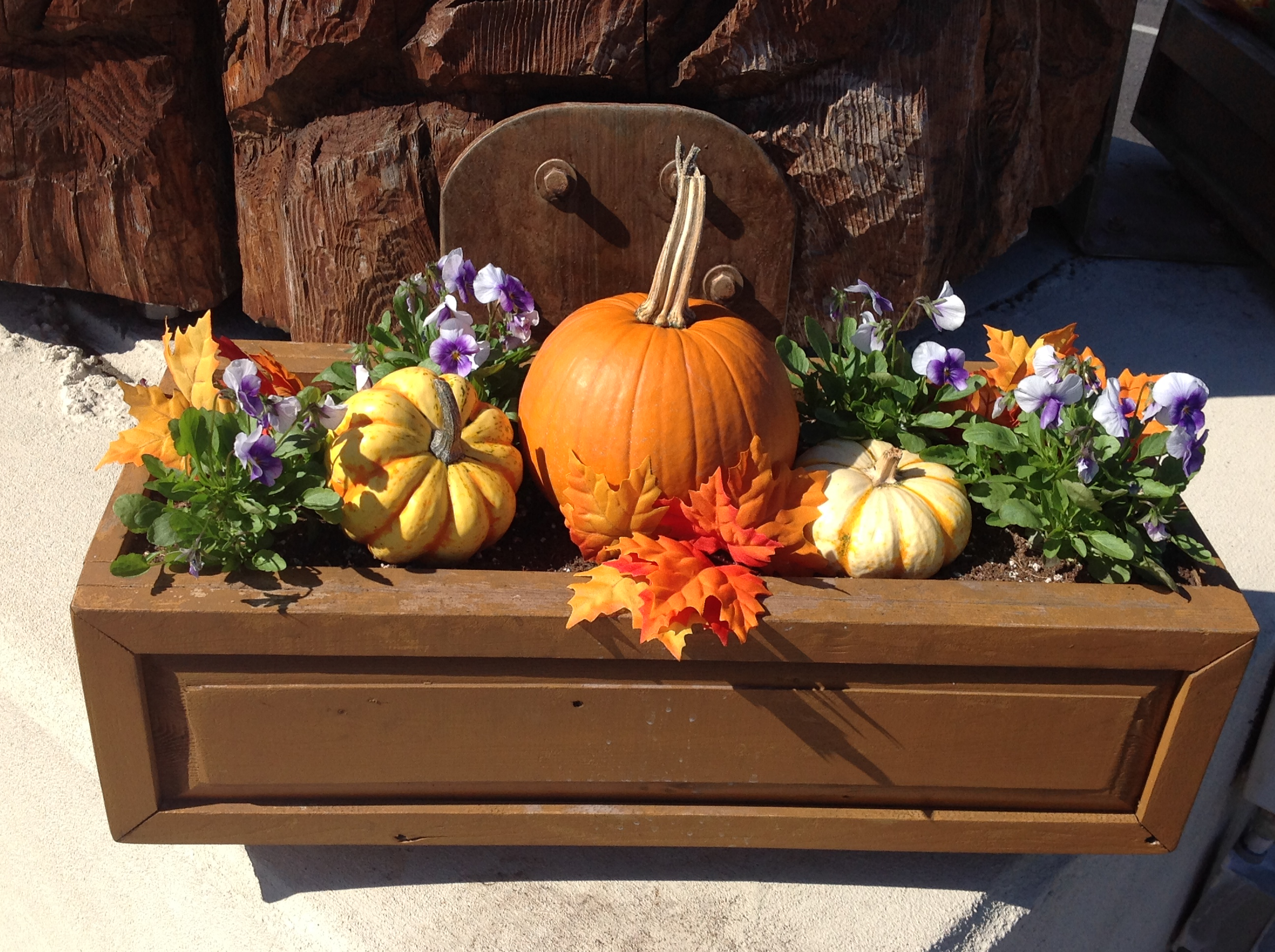 totem fall planter box